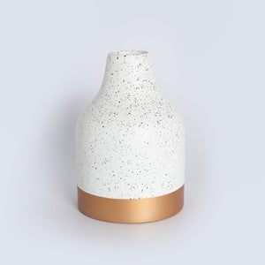 Speckled Bamboo Vase - Cream & Gold