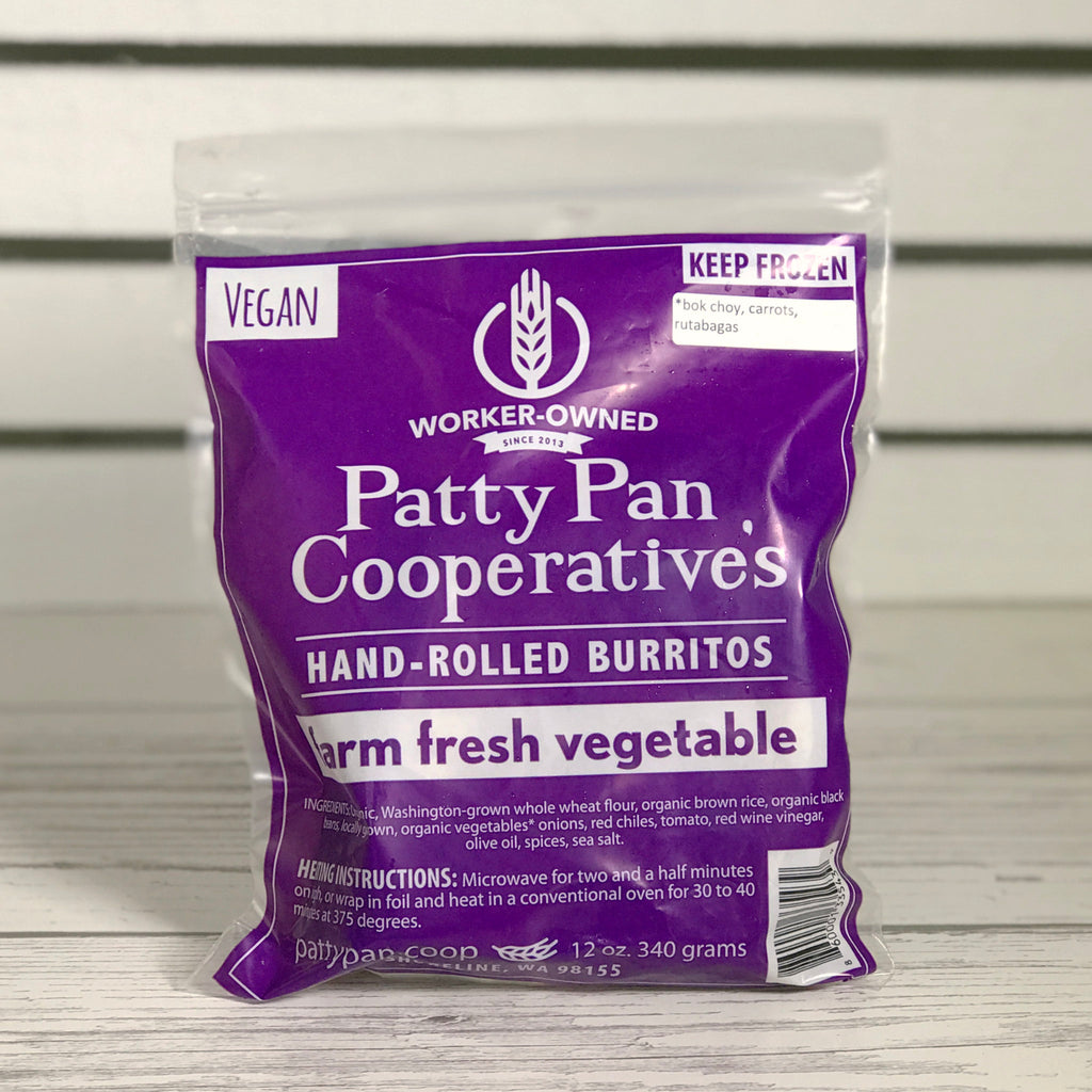 Patty Pan Cooperative Frozen Burritos
