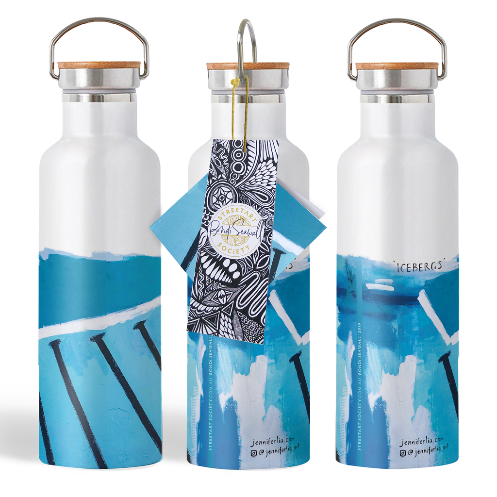 Eco Water Bottle - Icebergs
