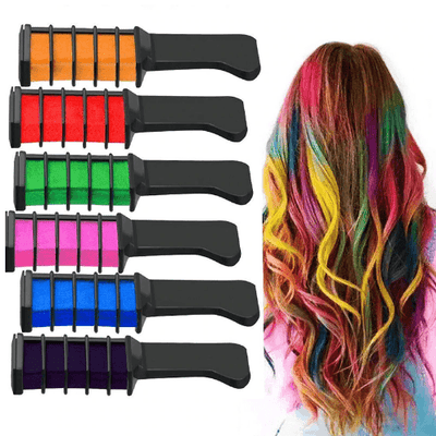 Hair Color Chalk Comb oupseven