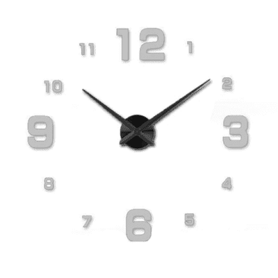 3D Wallclock oupseven Gray 37 inches