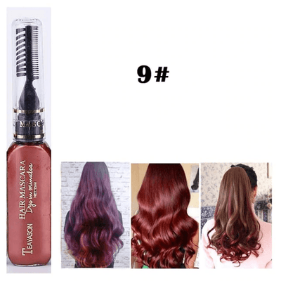 Temporary Hair Color Mascara oupseven Wine Red