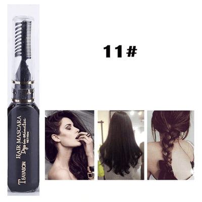 Temporary Hair Color Mascara oupseven Black