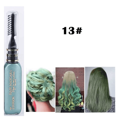 Temporary Hair Color Mascara oupseven Green