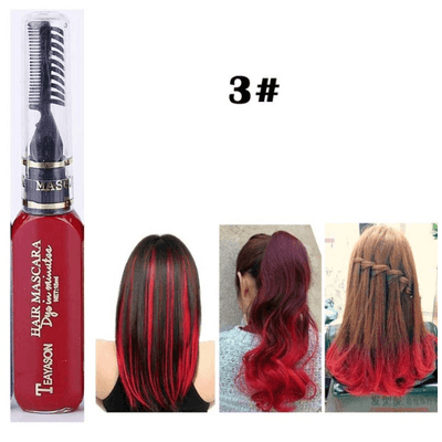 Temporary Hair Color Mascara oupseven Red
