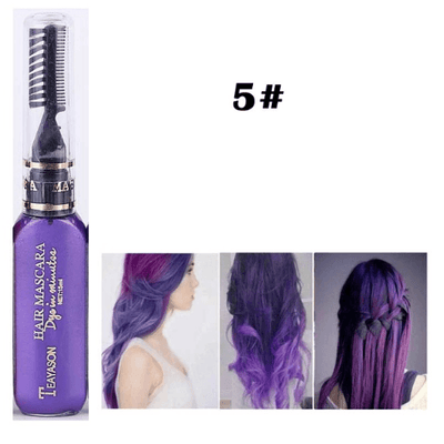 Temporary Hair Color Mascara oupseven Dark Purple