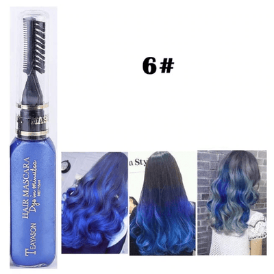 Temporary Hair Color Mascara oupseven Navy Blue