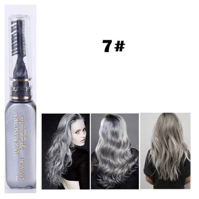 Temporary Hair Color Mascara oupseven Grey