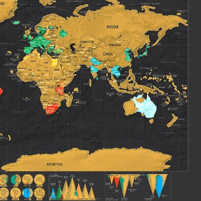 Scratch Off World Map oupseven