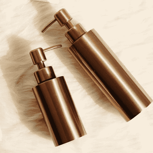 Golden Refillable Bottles