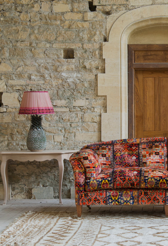 Bespoke English Upholstery. Handmade sofas, headboard, armchairs and ottomans by Lorfords