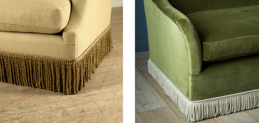 Fringe details on Lorford Contemporary's sofas