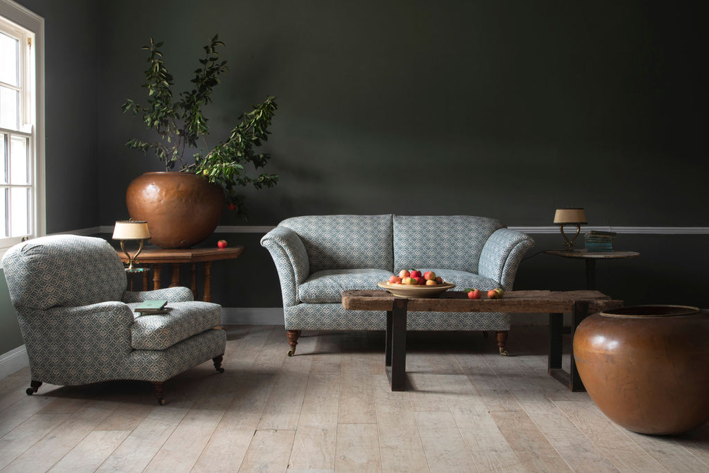 Howard & Sons Ivor chair and Grantley sofa