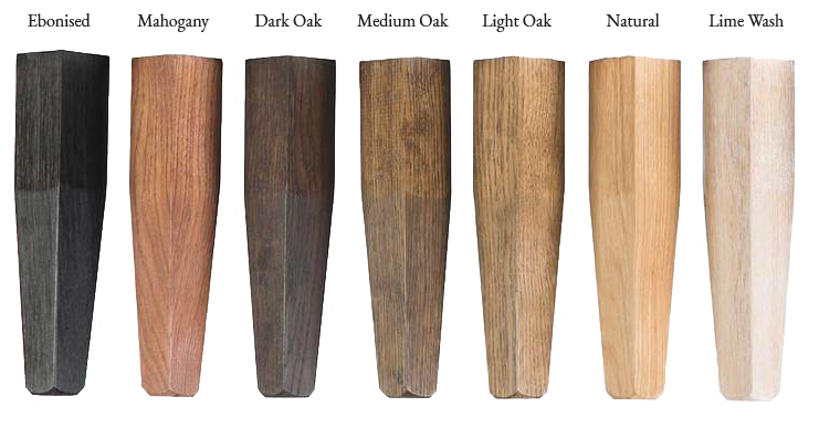 Leg finish options by Lorfords Contemporary