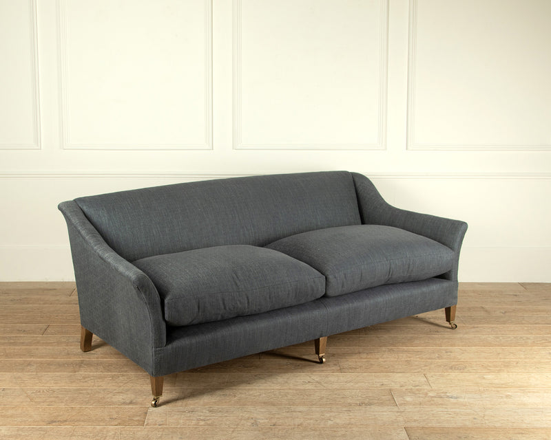 The Elmstead sofa in a lightly patterned Indigo fabric
