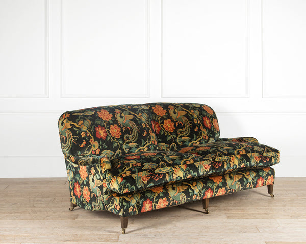The Kingston Sofa - Luxury sofa covered in oriental themed velvet