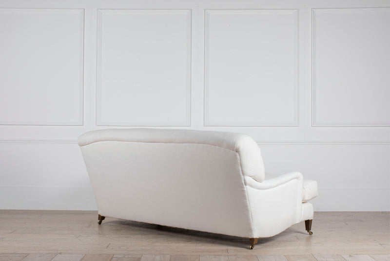 Lorfords Created | Bespoke Kingston Sofa | White | Turnell and Gigon | Linen | Traditional Upholstery | Handmade | Cotswolds