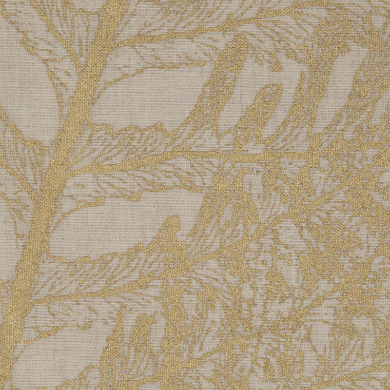 Fern in Gold on Natural | The Kew Fabric Collection | Lorfords