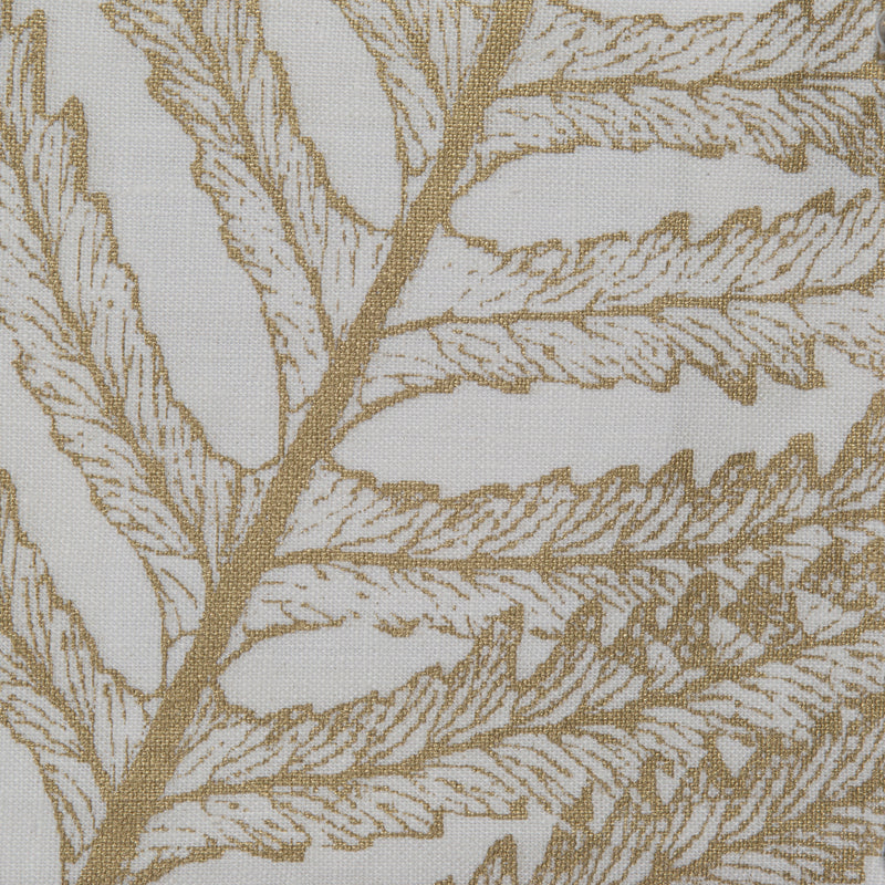Fern in Gold on White | The Kew Fabric Collection | Lorfords