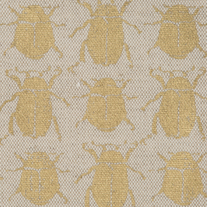 Scarab in Gold Natural | The Kew Fabric Collection | Lorfords