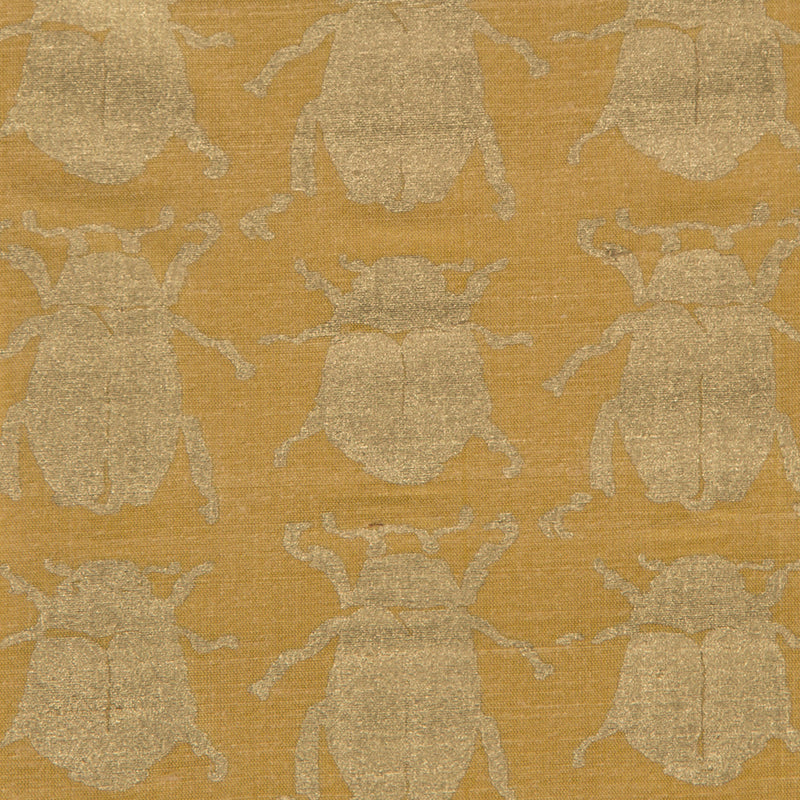 Scarab in Gold Silk | The Kew Fabric Collection | Lorfords