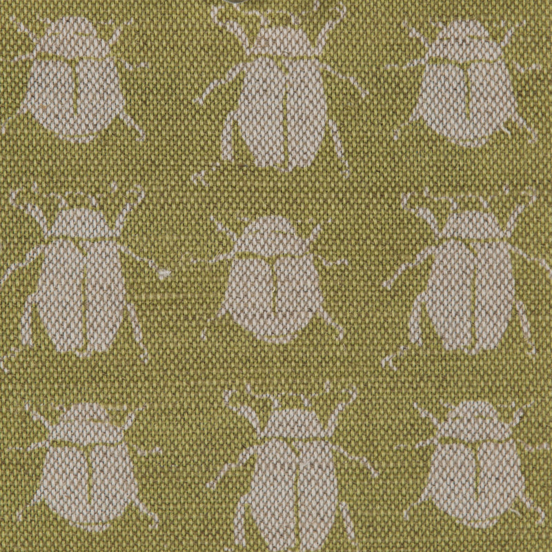 Scarab Reverse in Green | The Kew Fabric Collection | Lorfords
