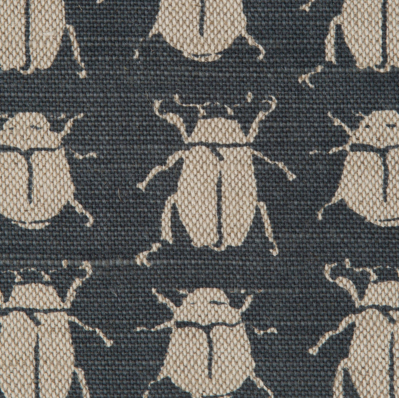 Scarab Reverse in Indigo | The Kew Fabric Collection | Lorfords