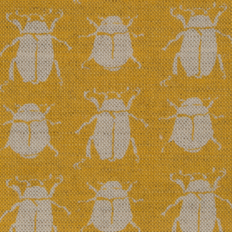 Scarab Reverse in Yellow | The Kew Fabric Collection | Lorfords
