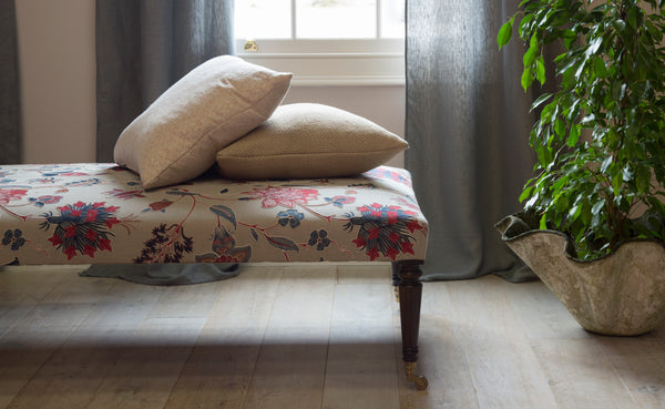 Lorfords Created | Loxford Ottoman| Traditional Upholstery | Handmade | Cotswolds