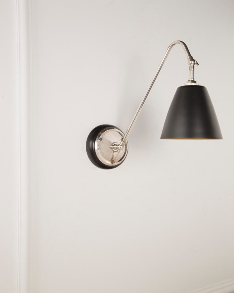 Wall Light | Silver Plate Finish | The Heston | Lorfords