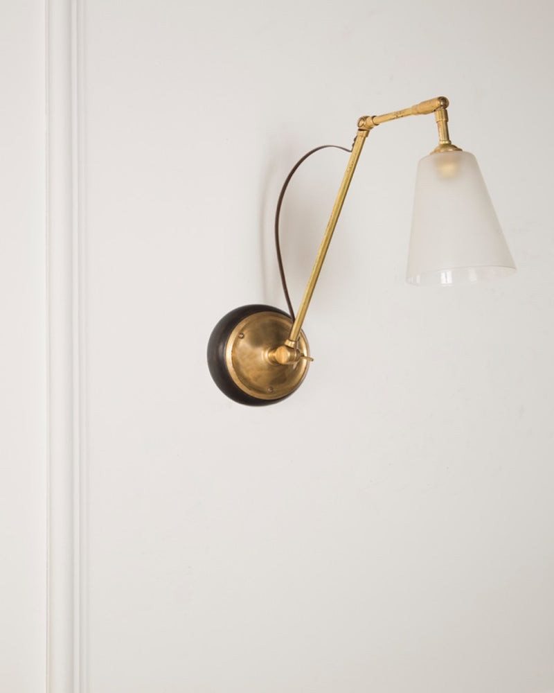 Adjustable Wall Light | Glass Shade | The Hoxton | Lorfords