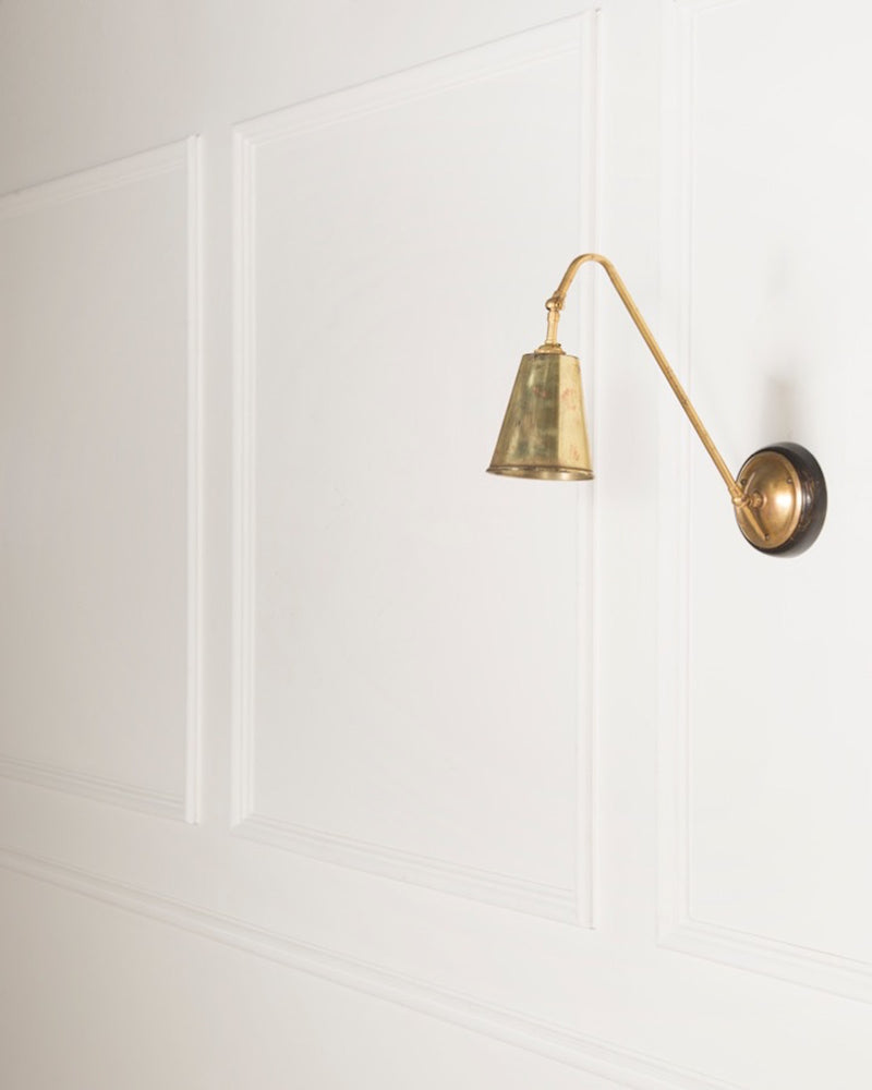 Wall Light | Brass Shade | The Heston | Lorfords