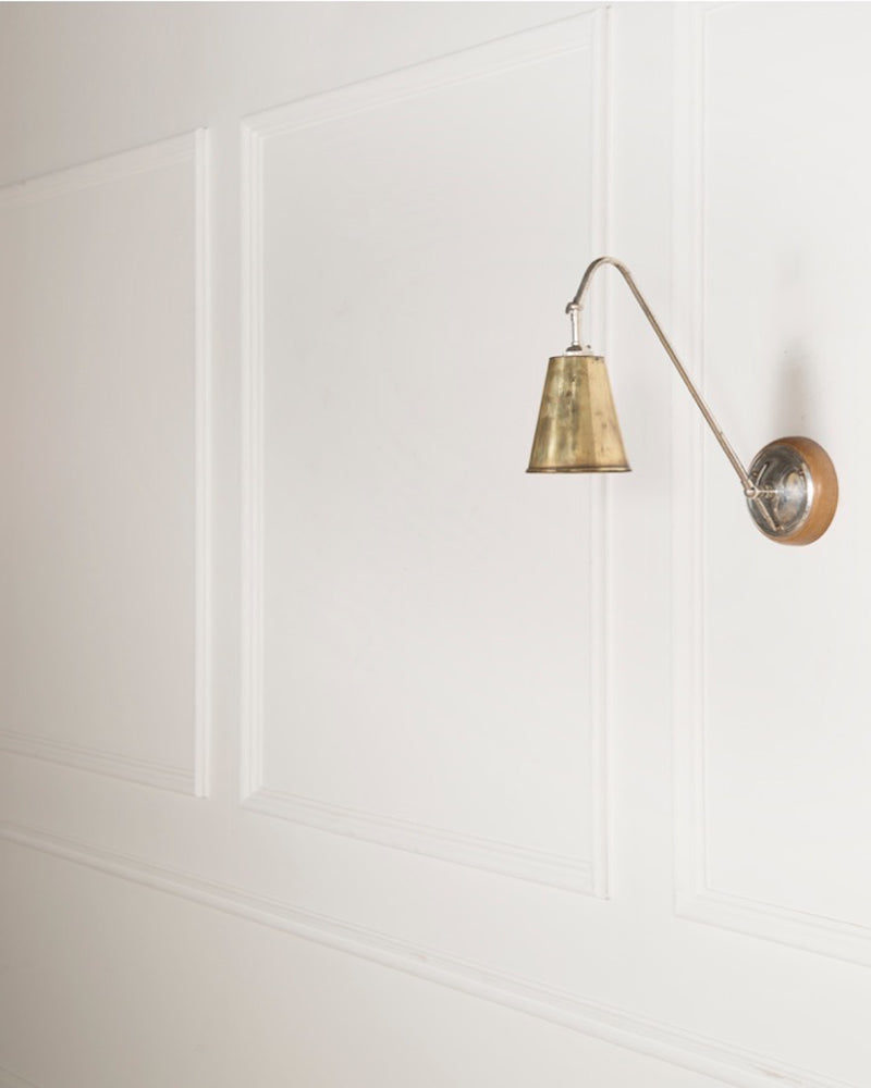 Wall Light | Silver Shade | The Heston | Lorfords