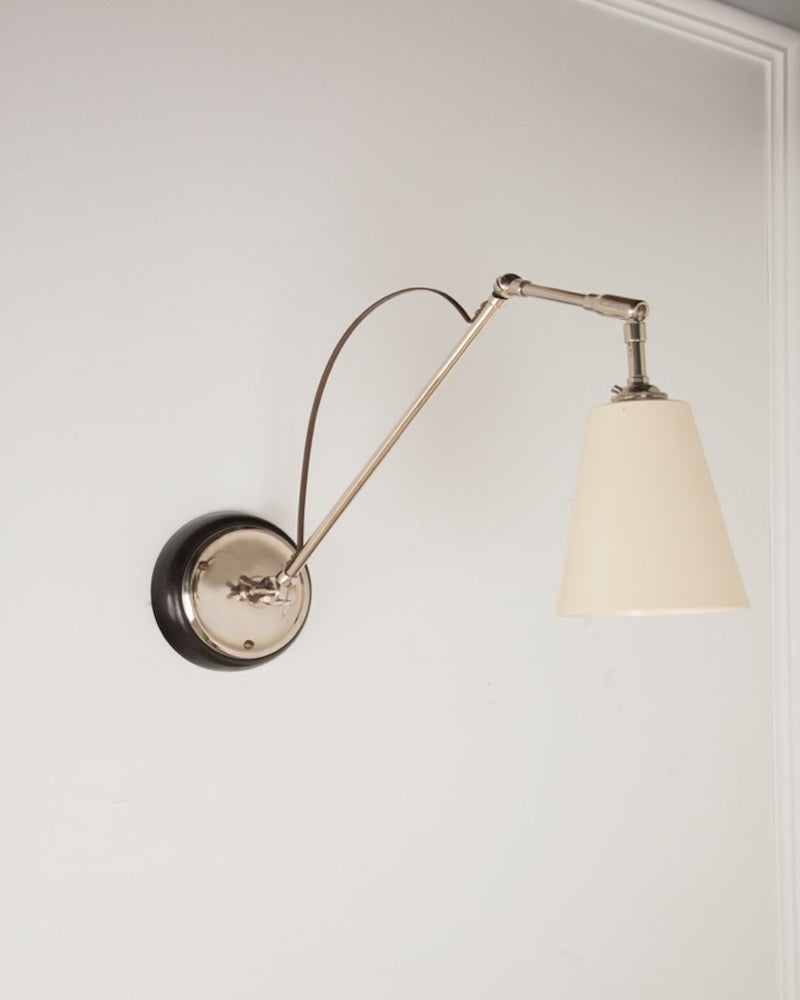 Adjustable Wall Light | White Shade | The Hoxton | Lorfords