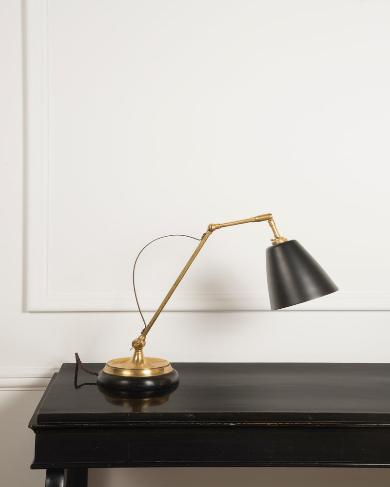 Adjustable Desk Lamp | Black Shade | The Hoxton | Lorfords