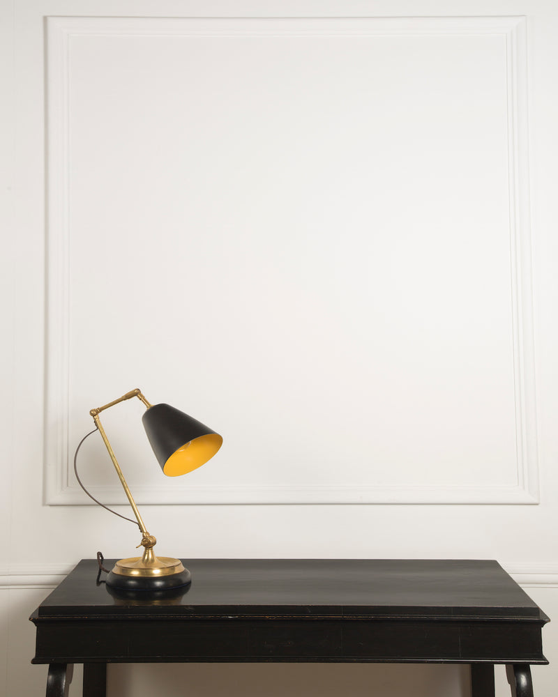 Adjustable Desk Lamp | Brass Finish | The Hoxton | Lorfords