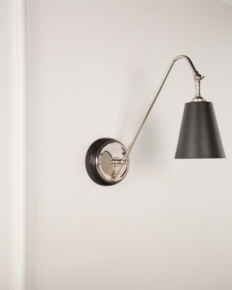 Wall Light | Black Shade | The Heston | Lorfords