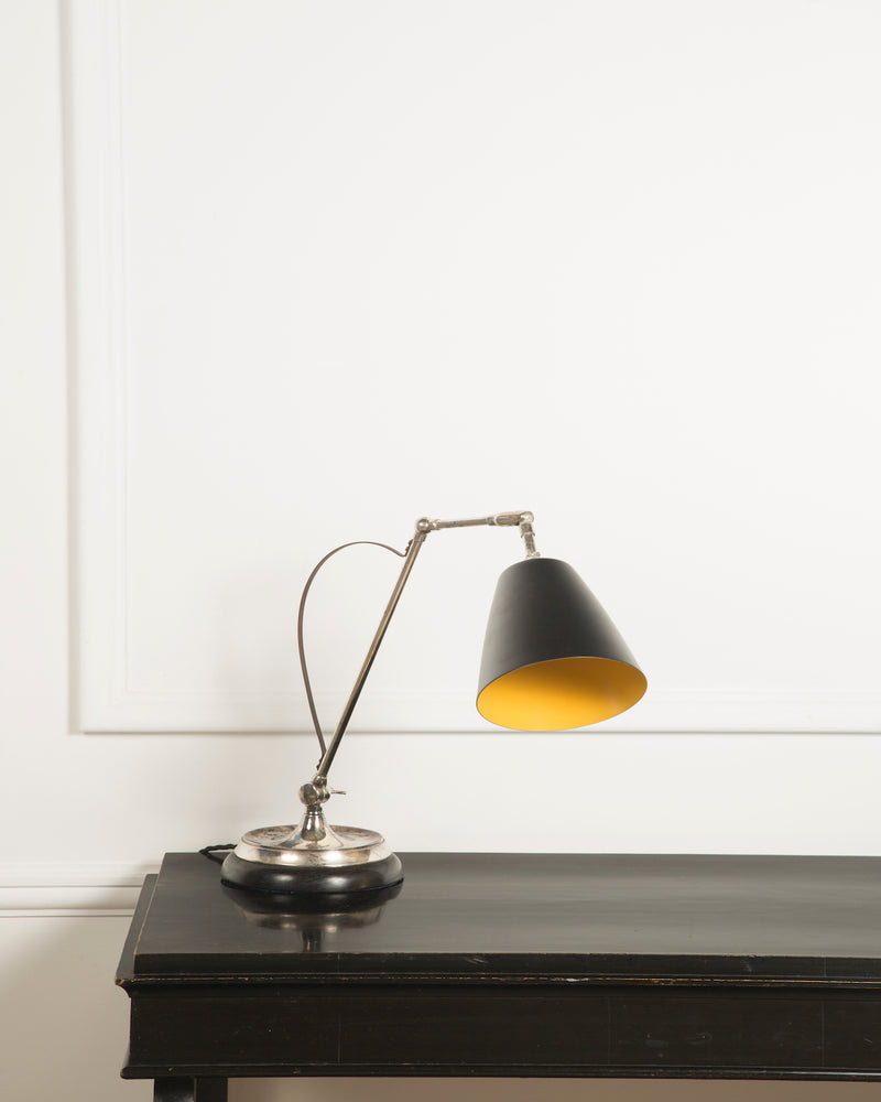 Adjustable Desk Lamp | Silver plated Finish | The Hoxton | Lorfords