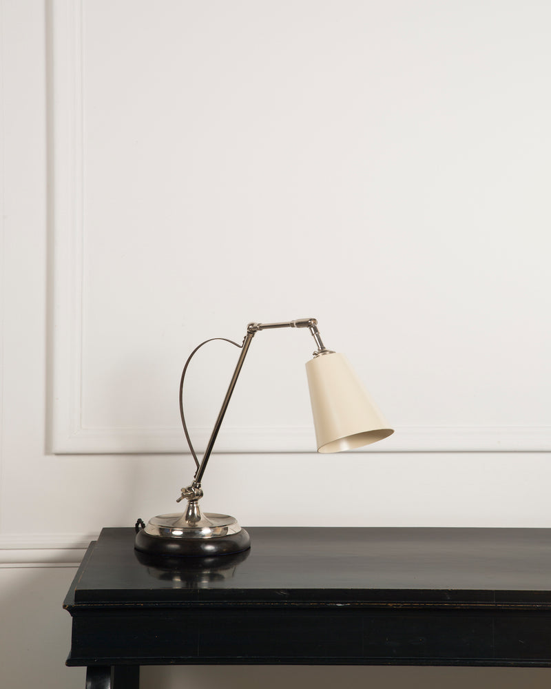Adjustable Desk Lamp | White Shade | The Hoxton | Lorfords