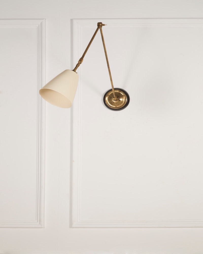 Adjustable Wall Light | White Shade | The Varick | Lorfords