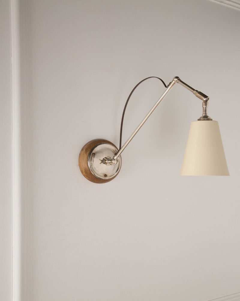 Adjustable Wall Light | Silver Plate Finish | The Hoxton | Lorfords