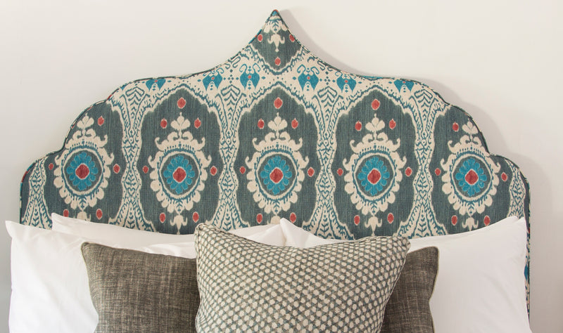 The Marrakech | Headboard | Pattern | Blue | Grey | Lorfords