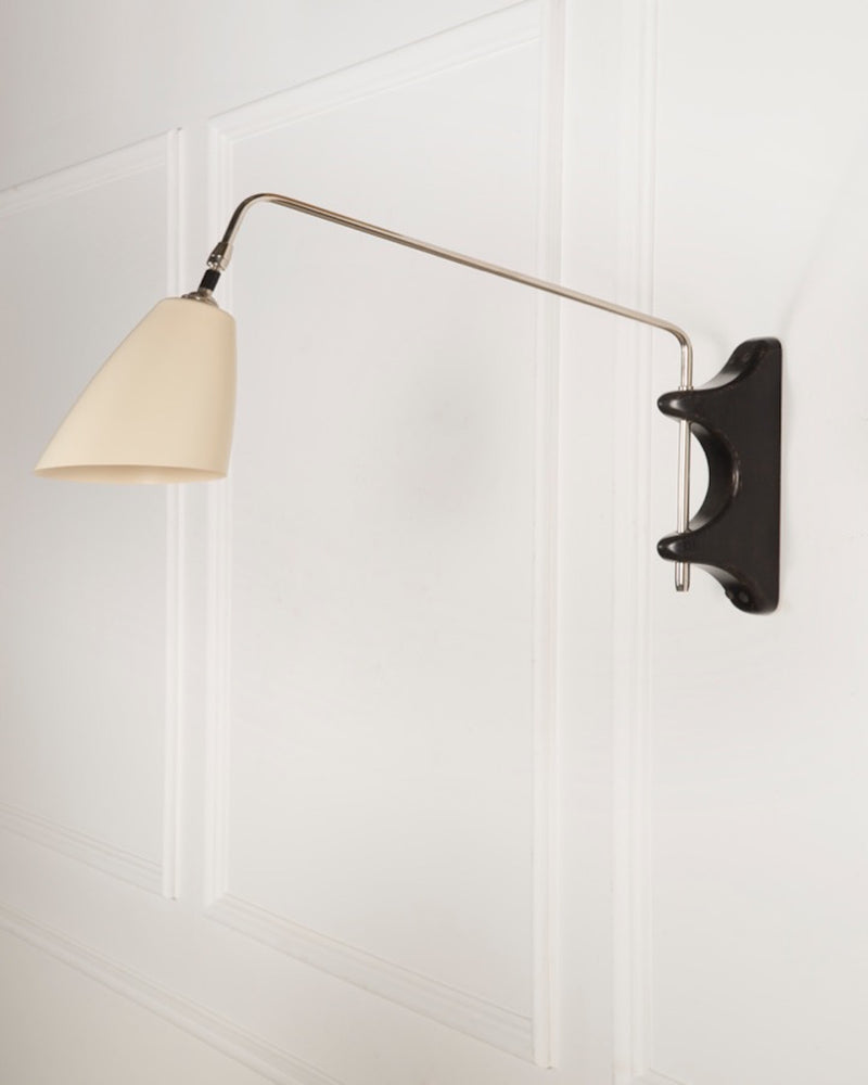 Swing Arm Wall Light | The Mercer | White Shade | Lorfords