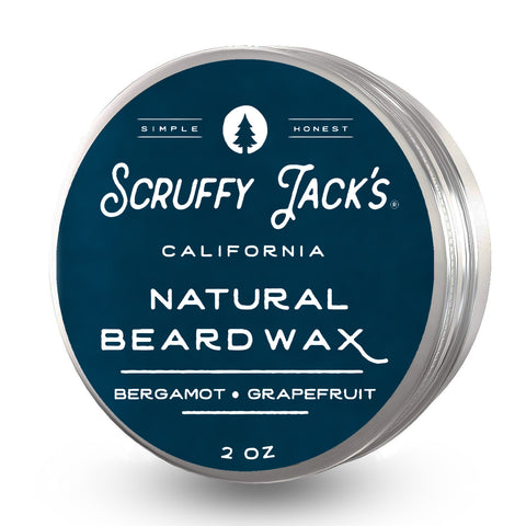 Beard Balm/Wax - Bergamot Grapefruit - with Jojoba Oil and Mango Butter - 2oz.