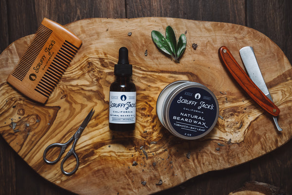 Beard Oil - Tobacco Bay Leaf - with Organic Argan Oil and Organic Baobab Oil - 1 oz.
