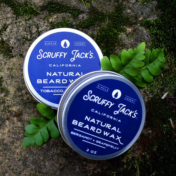 Beard Balm/Wax - Tobacco Bay Leaf - with Jojoba Oil and Mango Butter - 2oz.