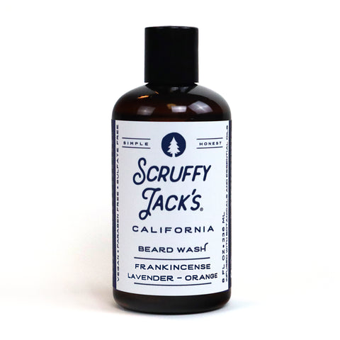 Beard Wash - Frankincense, Lavender, Orange - with Organic Aloe and Jojoba Oil - 8 fl. oz.