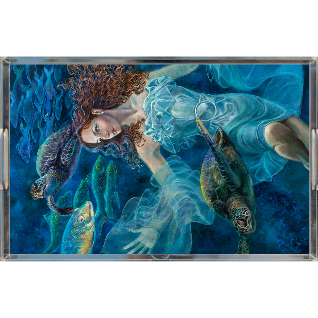 """Aquatic Highway"" Glam Entertaining Acrylic Trays - S I S U M O I"