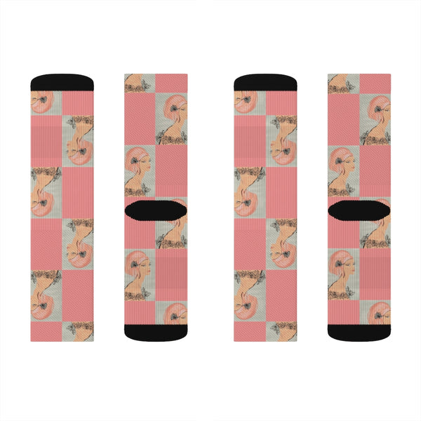 Coral Rose Senorita Sublimation Socks - S I S U M O I