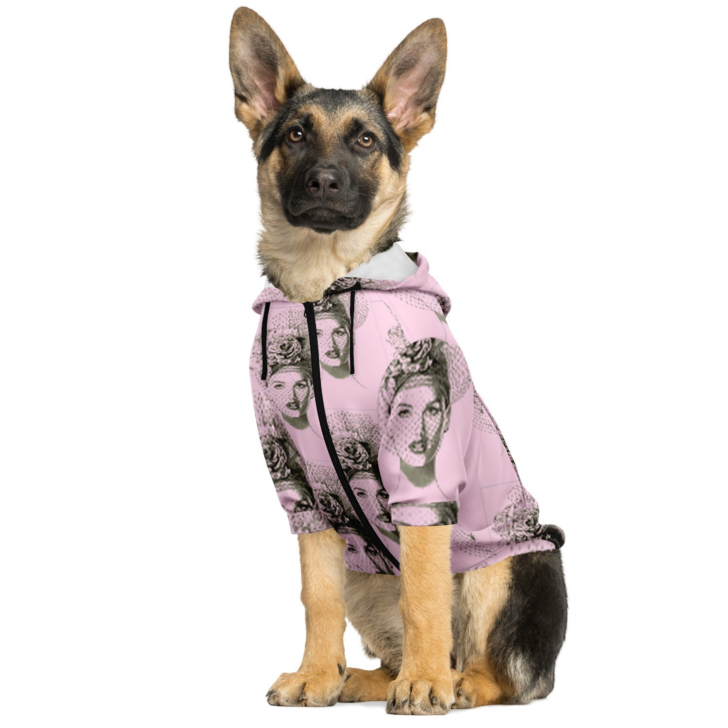 Rose Hat Fascinator Dog Hoodie - S I S U M O I